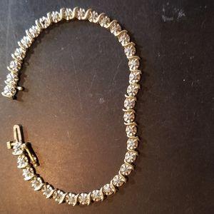 10kt diamond tennis bracelet